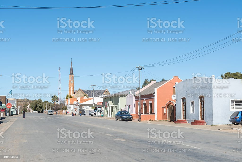 Street scene in Carnavon stock photo