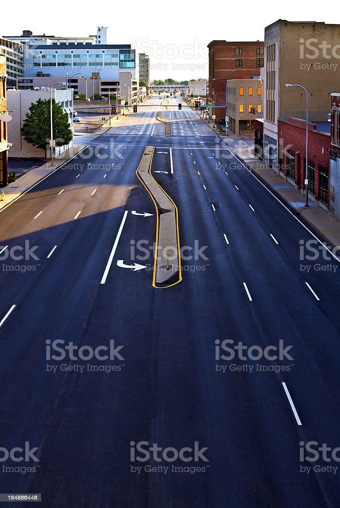 Street scene in downtown Peoria, Illinois stock photo