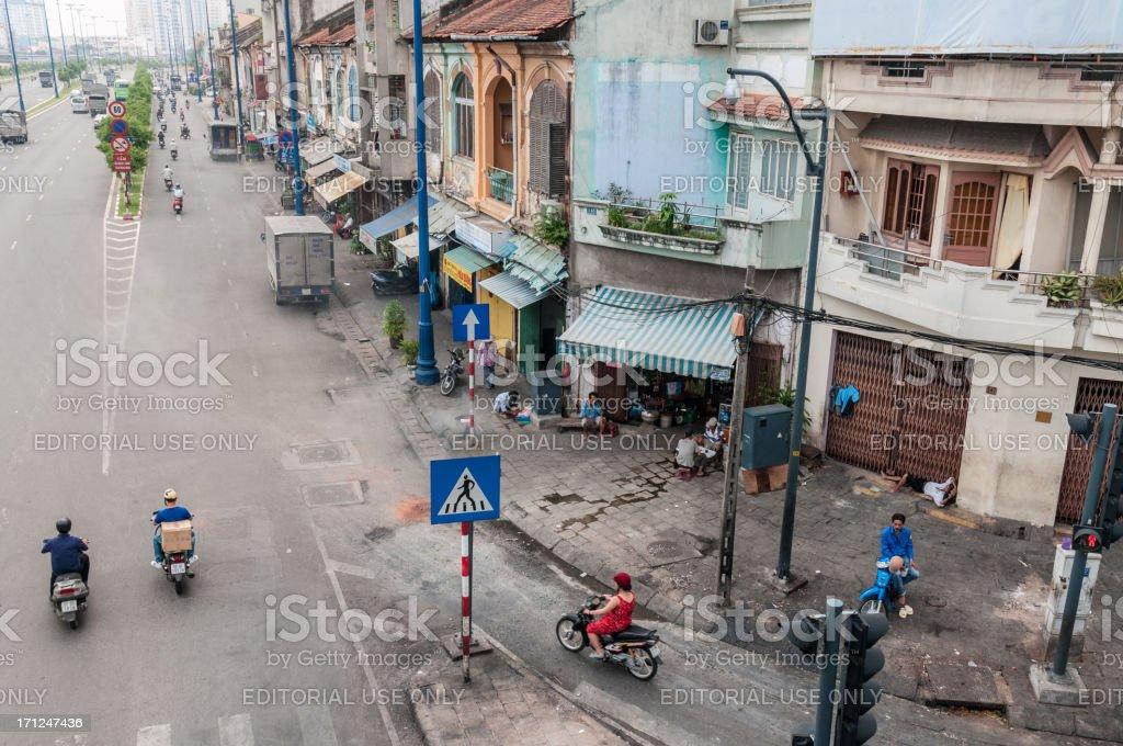 Street Scene In Ho Chi Minh City, Vietnam stock photo