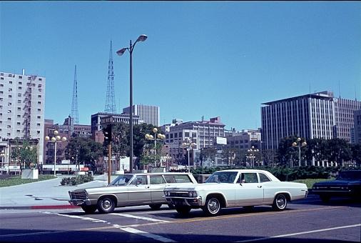 Los Angeles, California, USA, 1968. Street scene in Los Angeles.