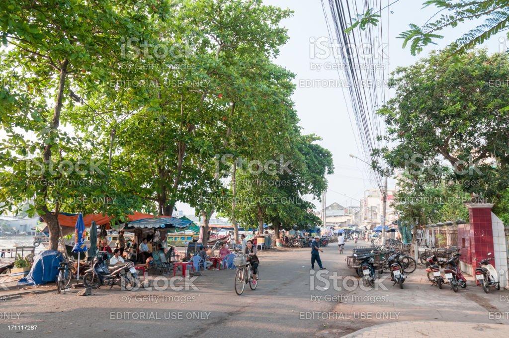 Street Scene In My Tho, Vietnam stock photo