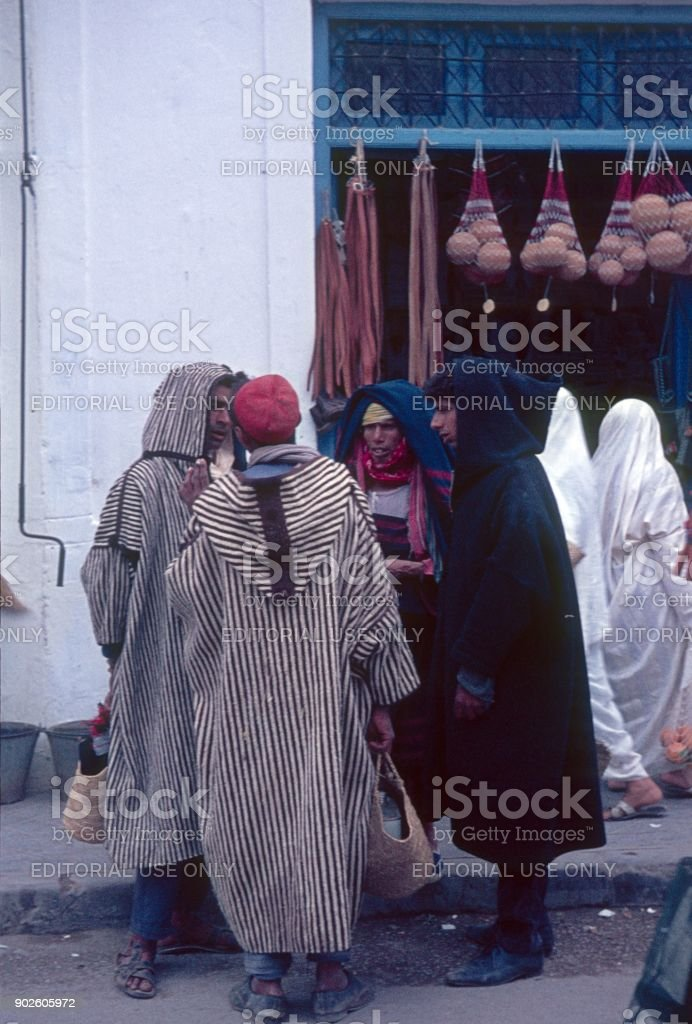Street scene in Nabeul, Tunisia stock photo