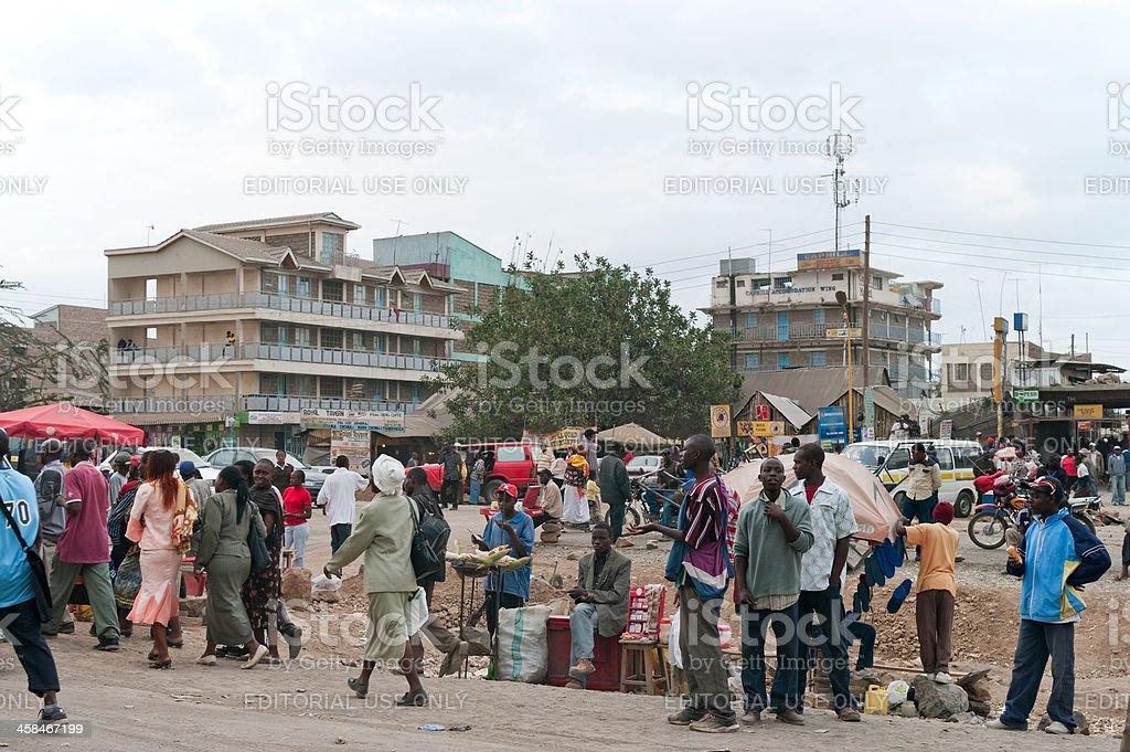 Street Scene in Nairobi, Kenya stock photo