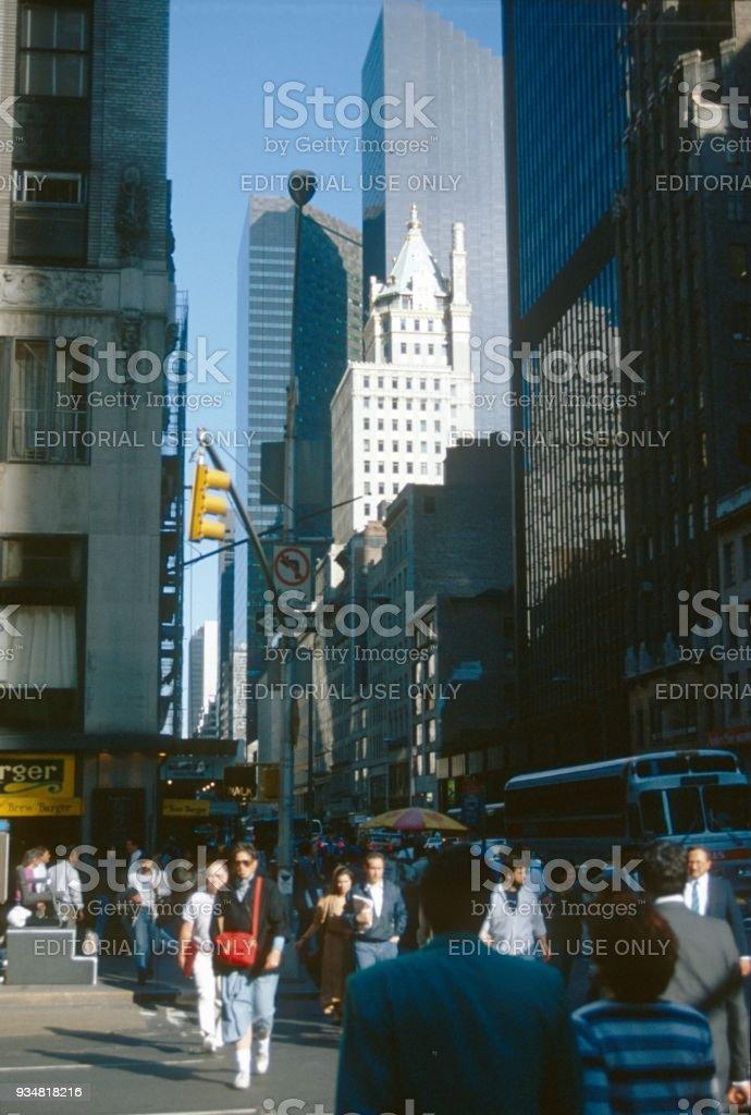 전경 in 뉴욕시행 - 로열티 프리 1980-1989 년 스톡 사진