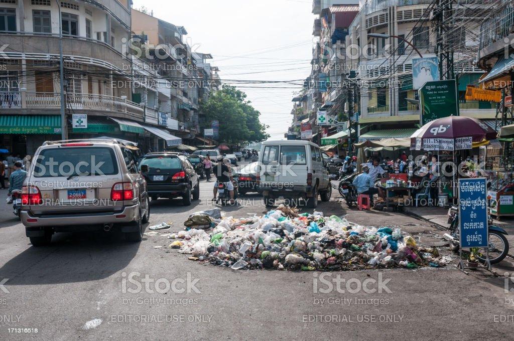 Street Scene In Phnom Penh, Cambodia stock photo