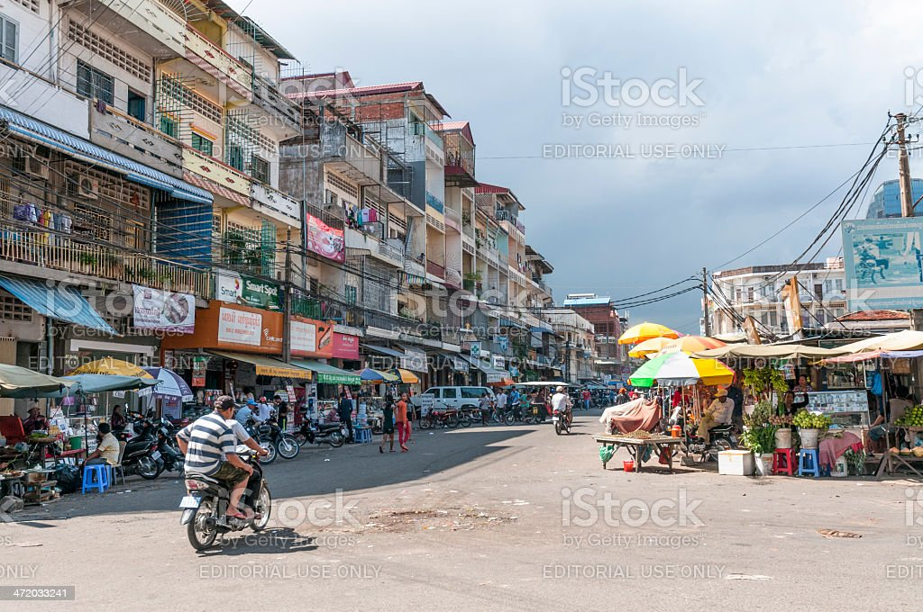 Street Scene In Phnom Penh, Cambodia royalty-free stock photo