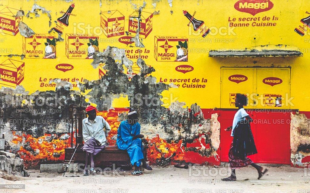 Street scene in Senegal. stock photo