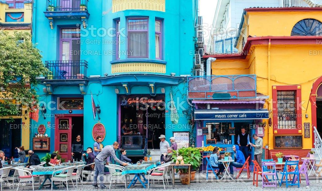Street scene in Sultanahmet, Istanbul stock photo