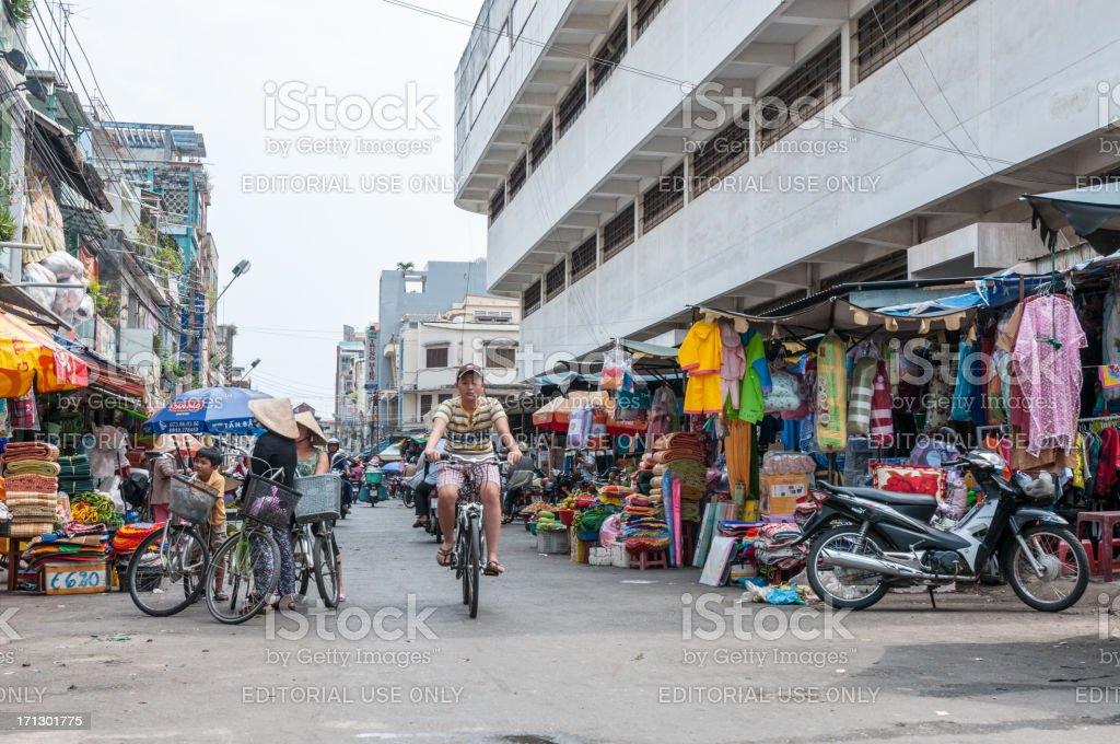 Street Scene In Vietnam stock photo