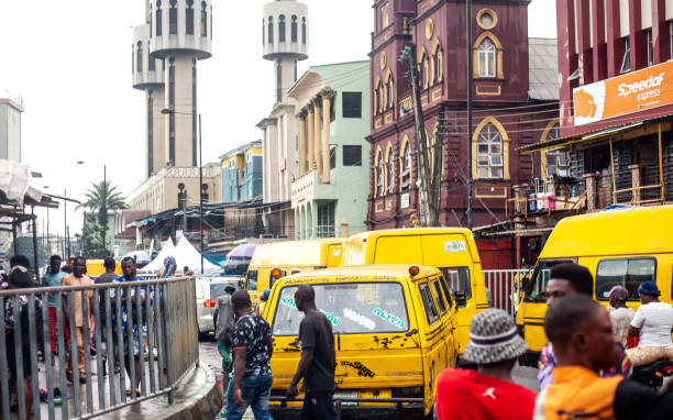 Street scene - Lagos, Nigeria stock photo
