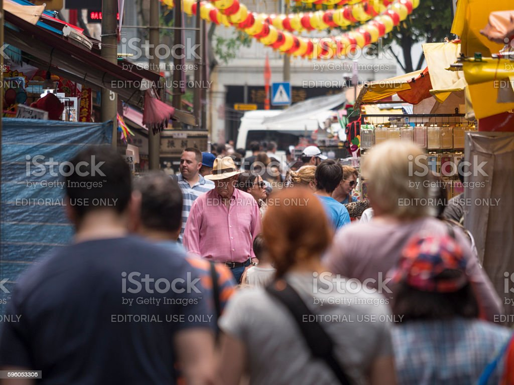 Street Scene of Chinatown SIngapore royalty-free stock photo