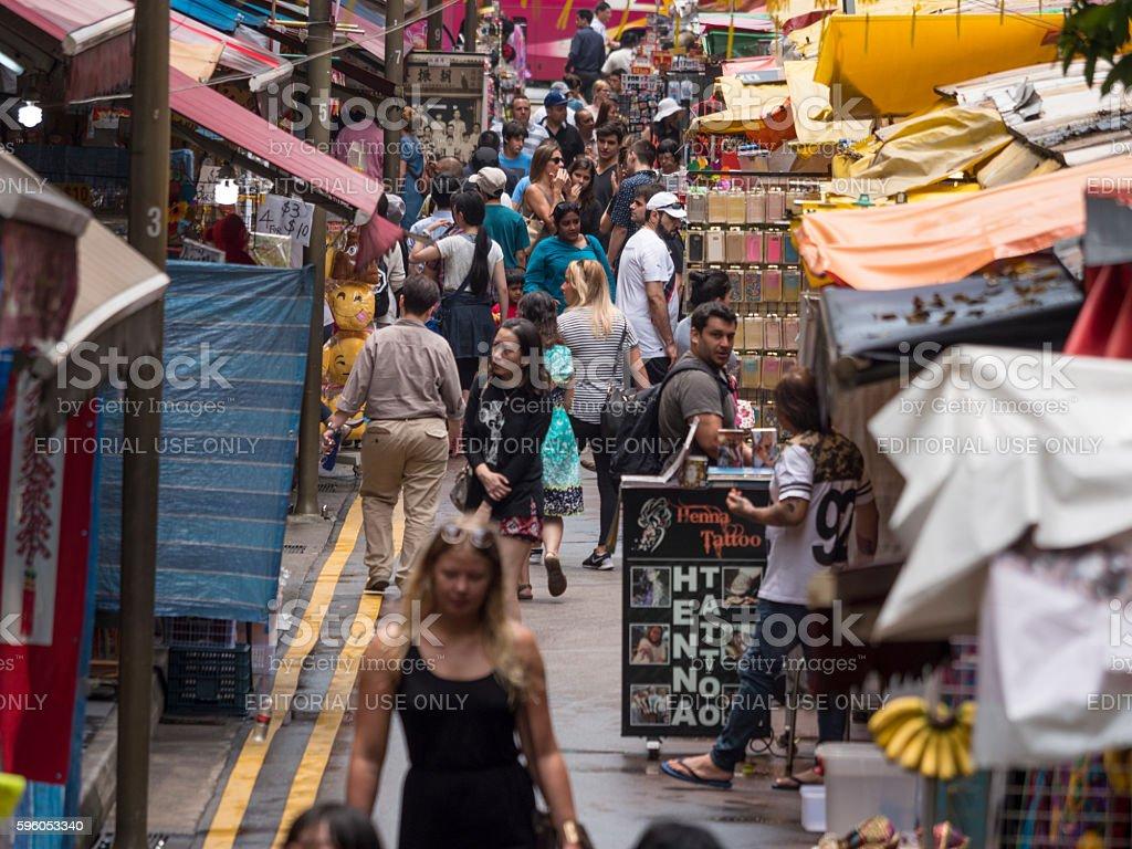 Street Scene of Chinatown SIngapore royalty-free stock photo