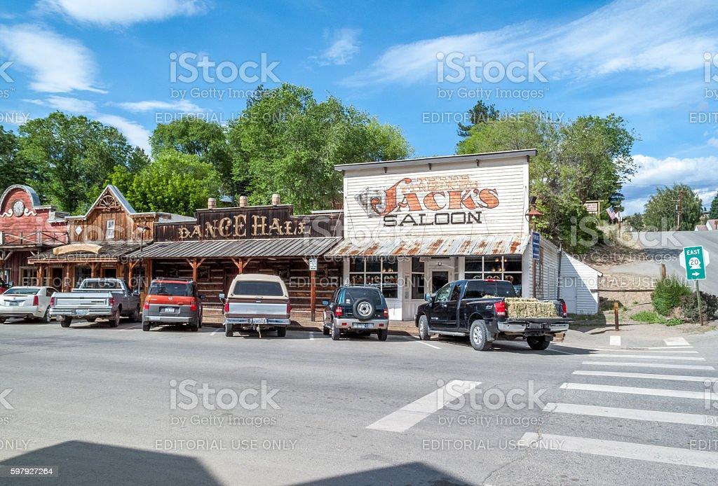 street scene of Winthrop stock photo