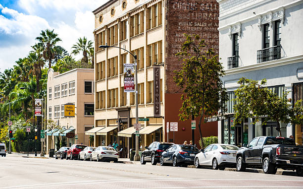 Street Scene Pasadena, Los Angeles, California stock photo