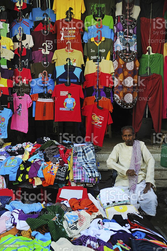 Street shop in New Delhi royalty-free stock photo