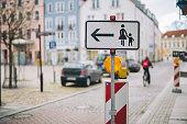 Street sig on the street