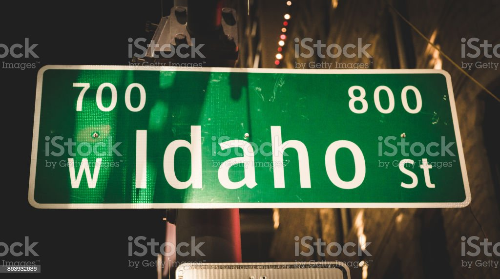 Street Sign at an Intersection stock photo