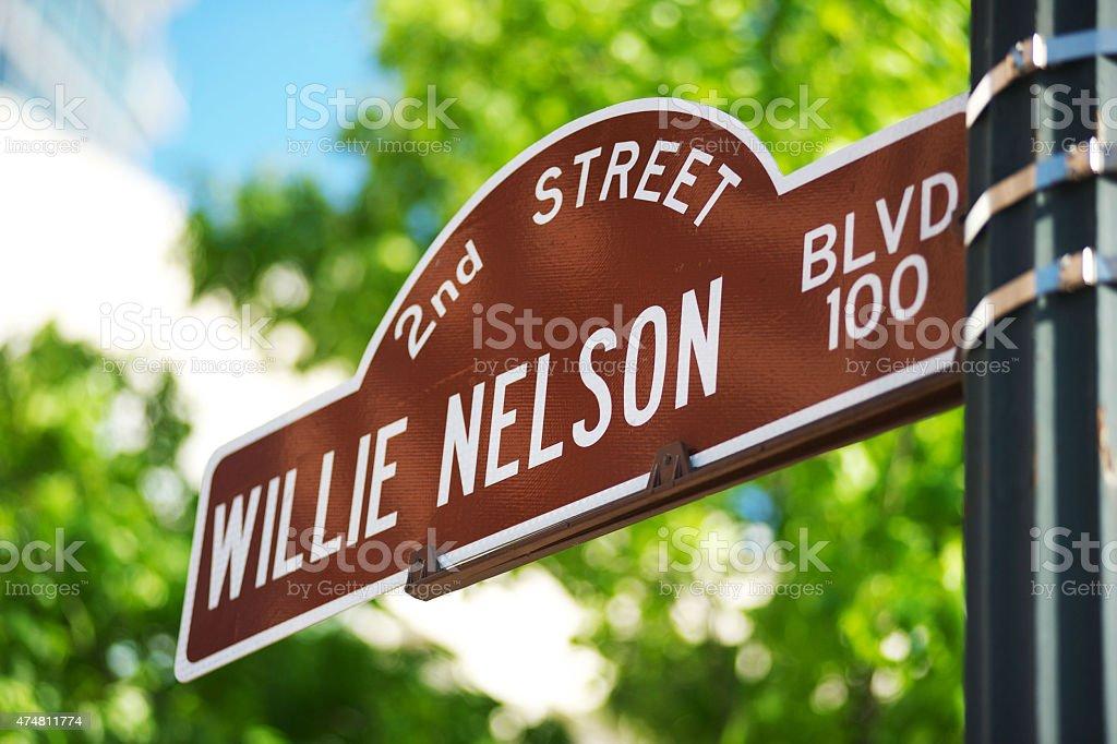 Street Sign Austin Texas stock photo