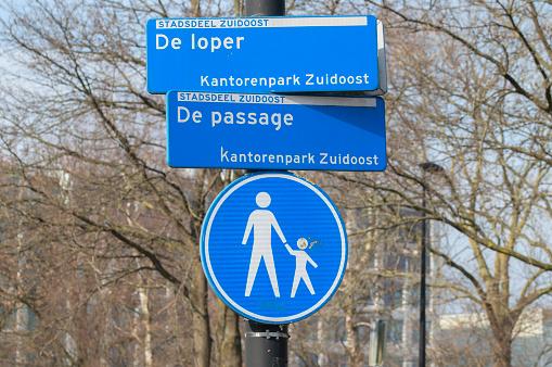 Street Sign De Loper And De Passage At Amsterdam The Netherlands 24-3-2021