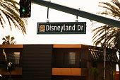 Street sign for Disneyland drive Anaheim California