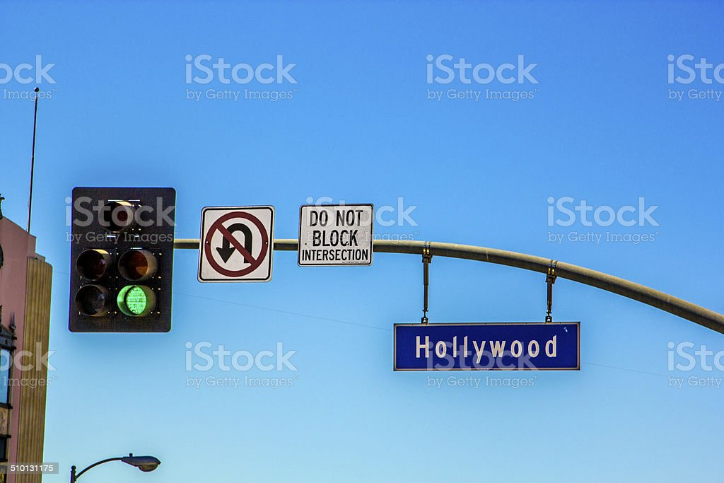 street sign Hollywood Boulevard in Hollywood stock photo