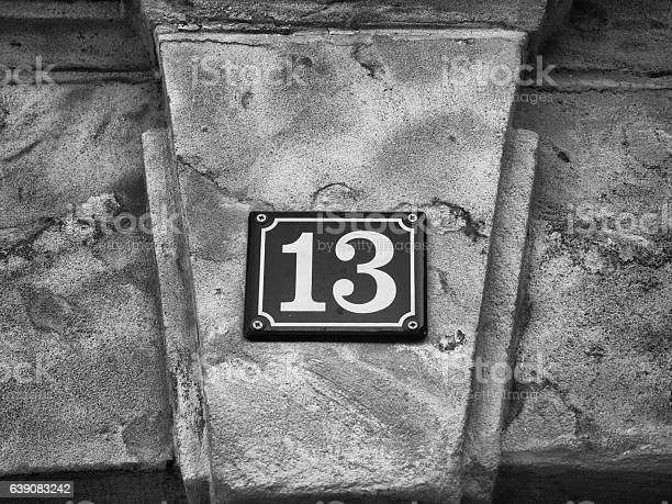 Street sign house number 13 on sandstone wall picture id639083242?b=1&k=6&m=639083242&s=612x612&h=db19k 5pffn xpq6l4xje9g85gs7f4ilnoih4scyaem=