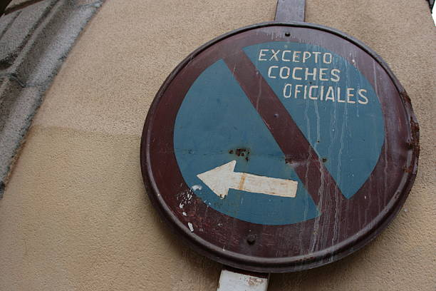 Street Sign In Madrid stock photo