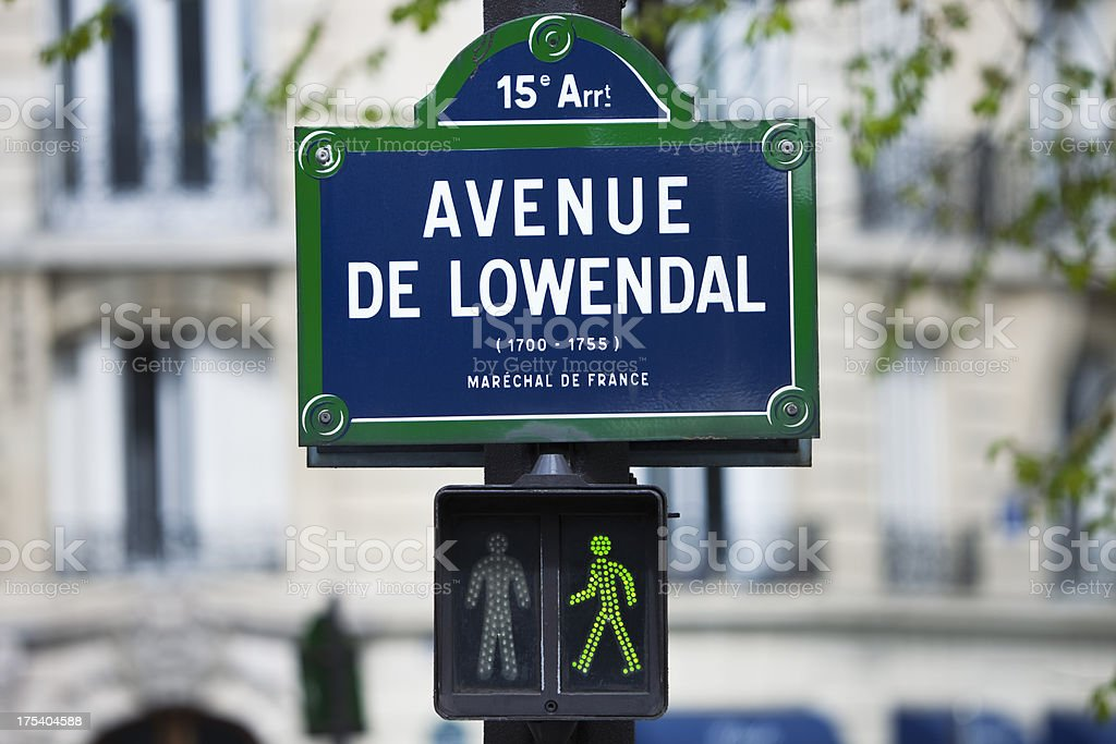 Street Sign in Paris stock photo