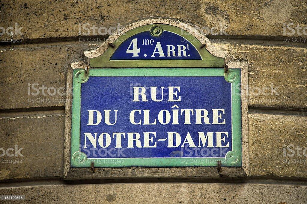 Straßenschild in Paris – Foto