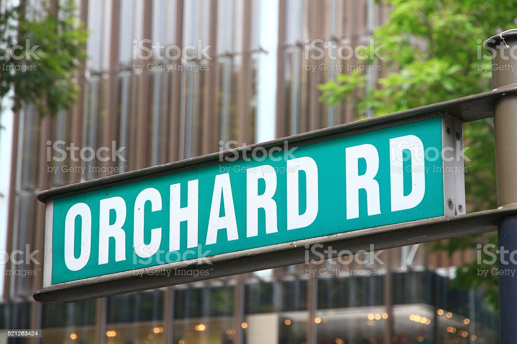 Street Sign in Singapore - Orchard Road stock photo