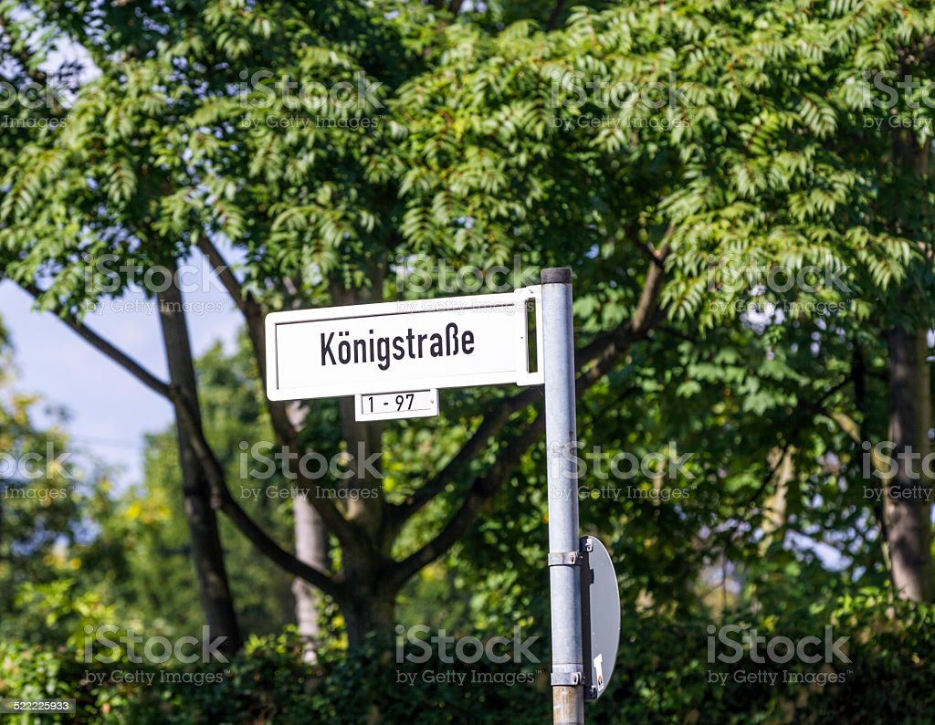 street sign Königstrasse stock photo