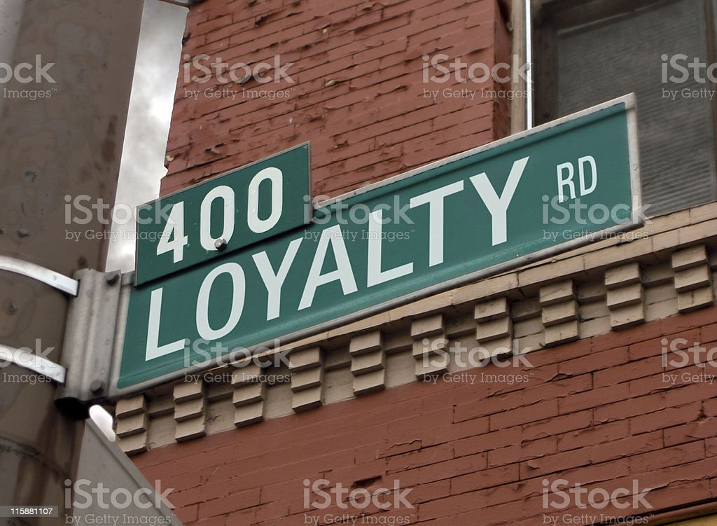 Street Sign: Loyalty royalty-free stock photo