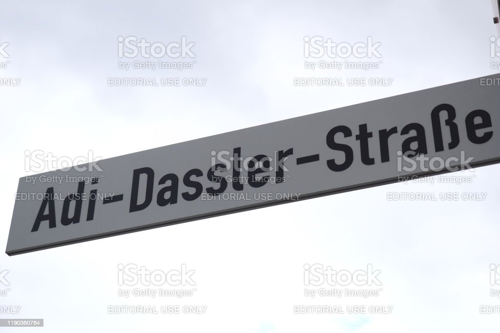 Street Sign Named After Company Founder Adi Dassler In Front Of The New Adidas Headquarter In The Village Of Herzogenaurach Stock Photo Download Image Now Istock