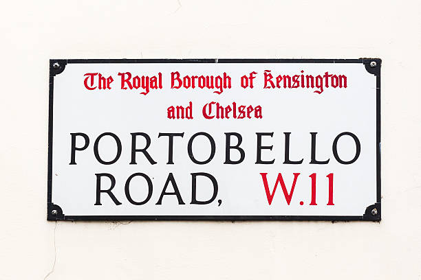 street sign of Portobello Road in London, UK – Foto