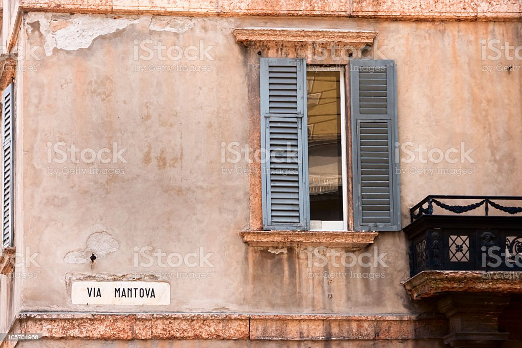 Street Sign of Via Mantova, Italy royalty-free stock photo