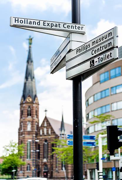 street sign - eindhoven stockfoto's en -beelden