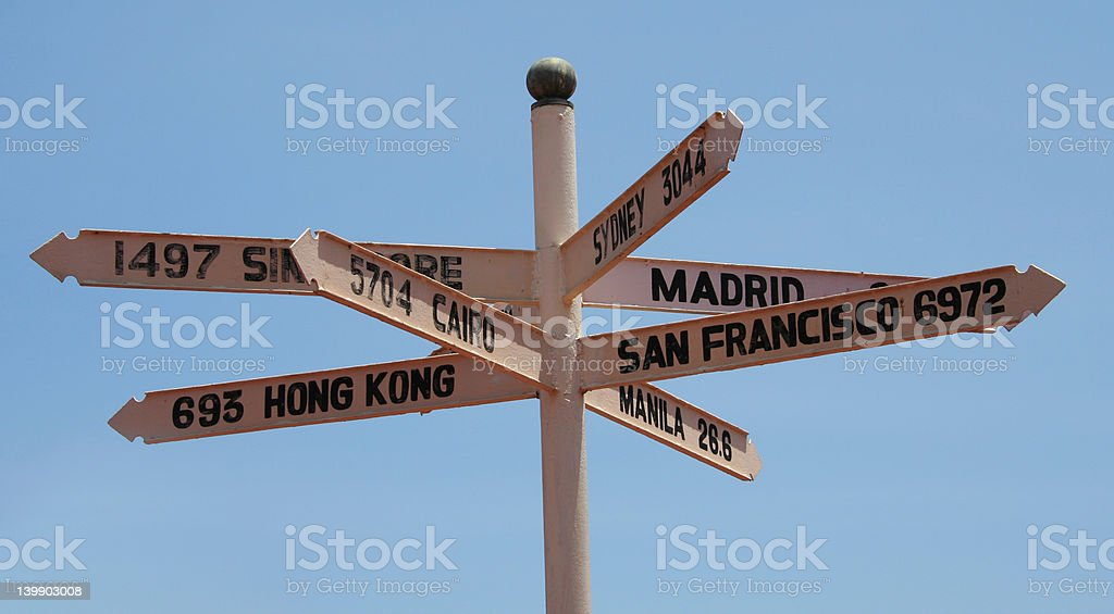 street sign post royalty-free stock photo