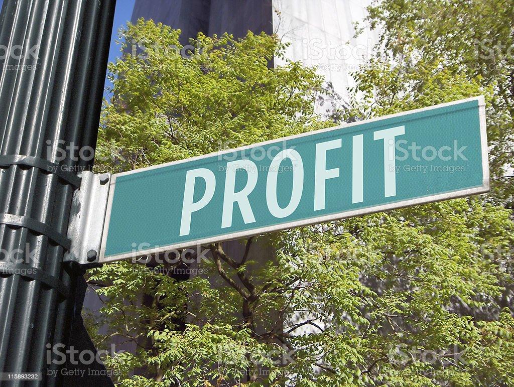 Street Sign: Profit royalty-free stock photo