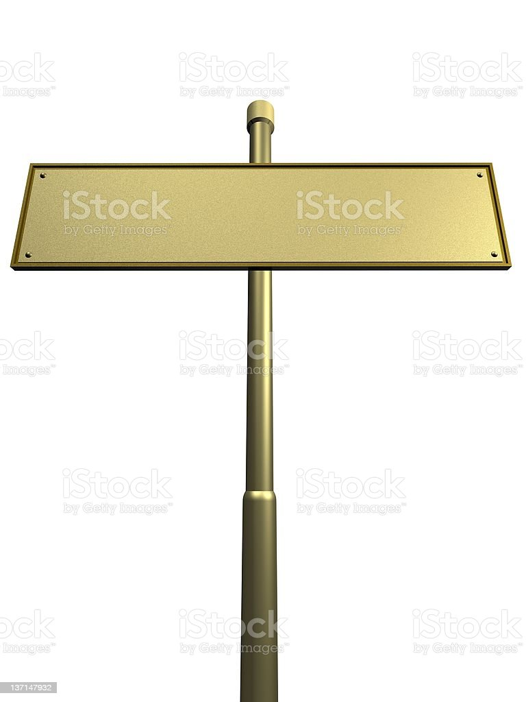 street sign ready for text royalty-free stock photo