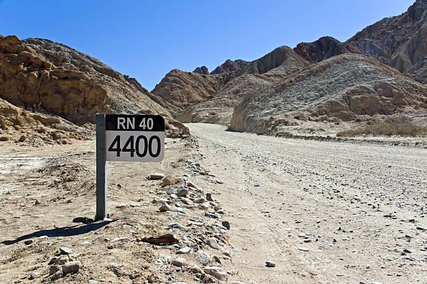 Straßenschild Ruta 40 in Argentinien – Foto