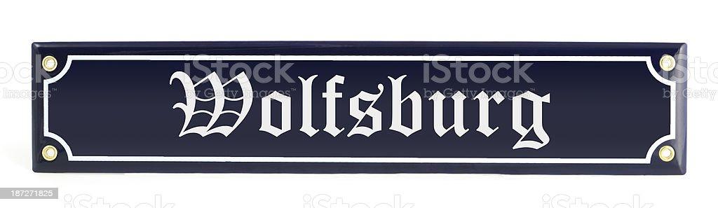 street sign Wolfsburg - Germany royalty-free stock photo
