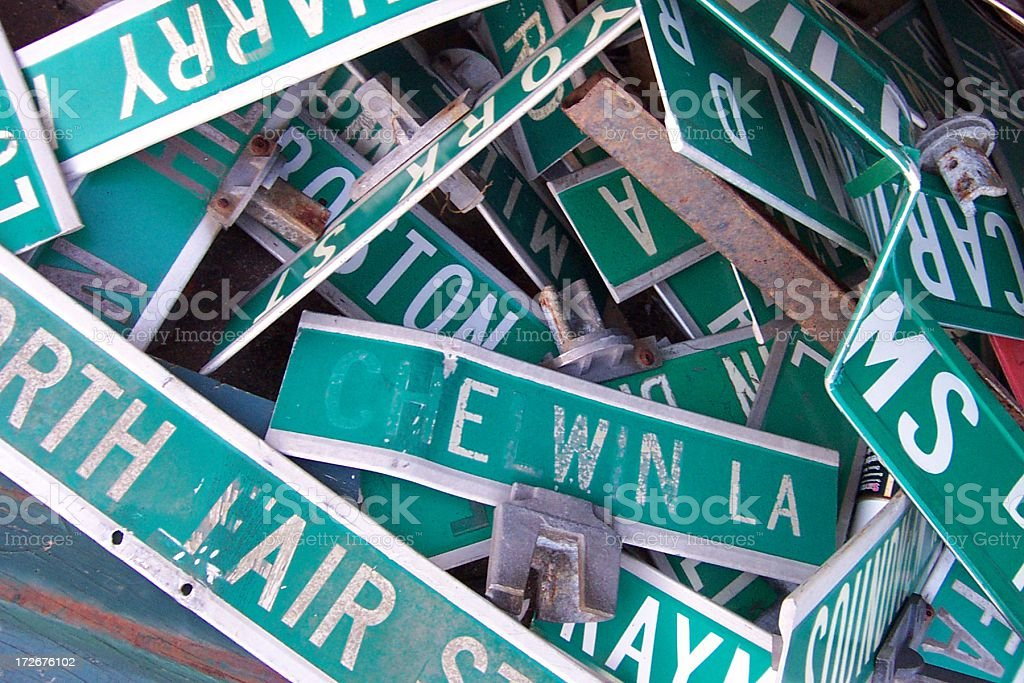 Street Signs 03 royalty-free stock photo