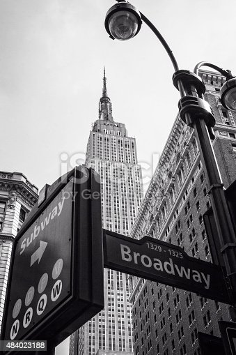 458128003 istock photo Street signs and Empire State Building 484023188
