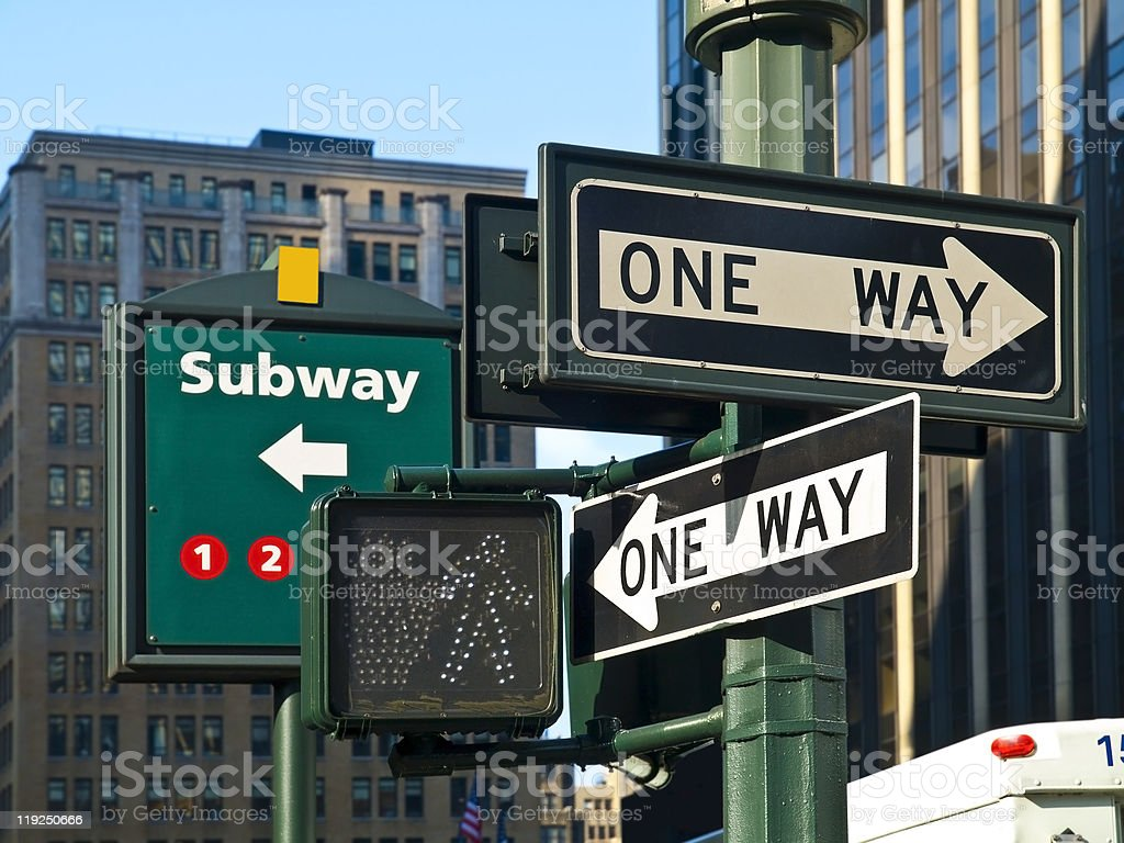 Street Signs in Manhattan royalty-free stock photo