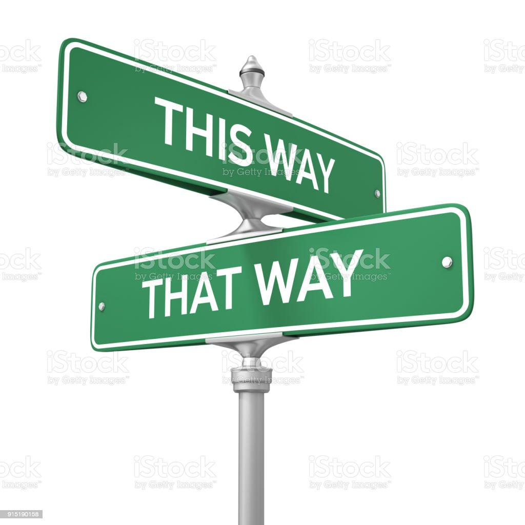 Street Signs on White Background stock photo