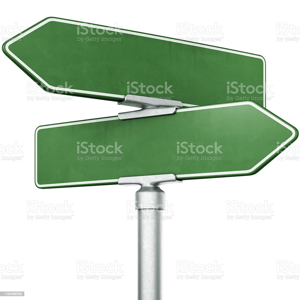 Street signs stock photo