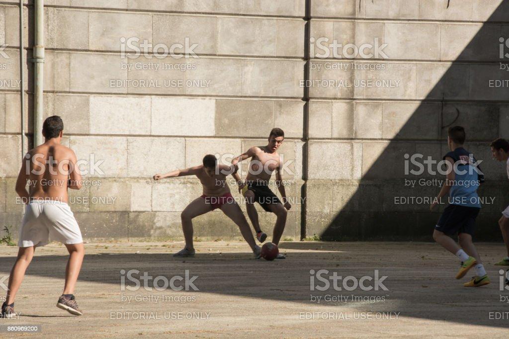 Street Soccer I stock photo