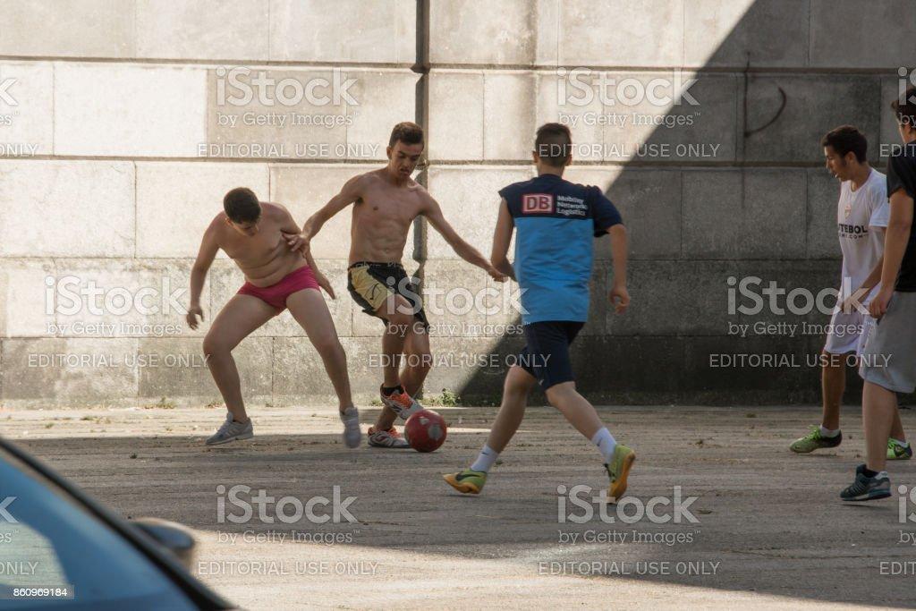 Street Soccer II stock photo
