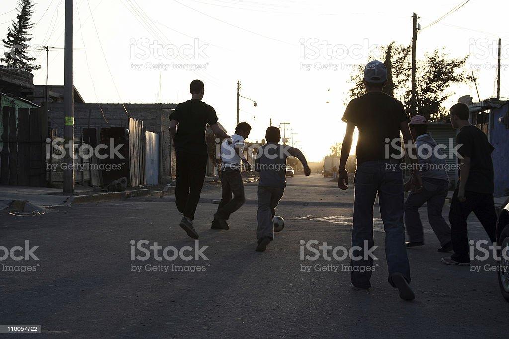 Street soccer stock photo