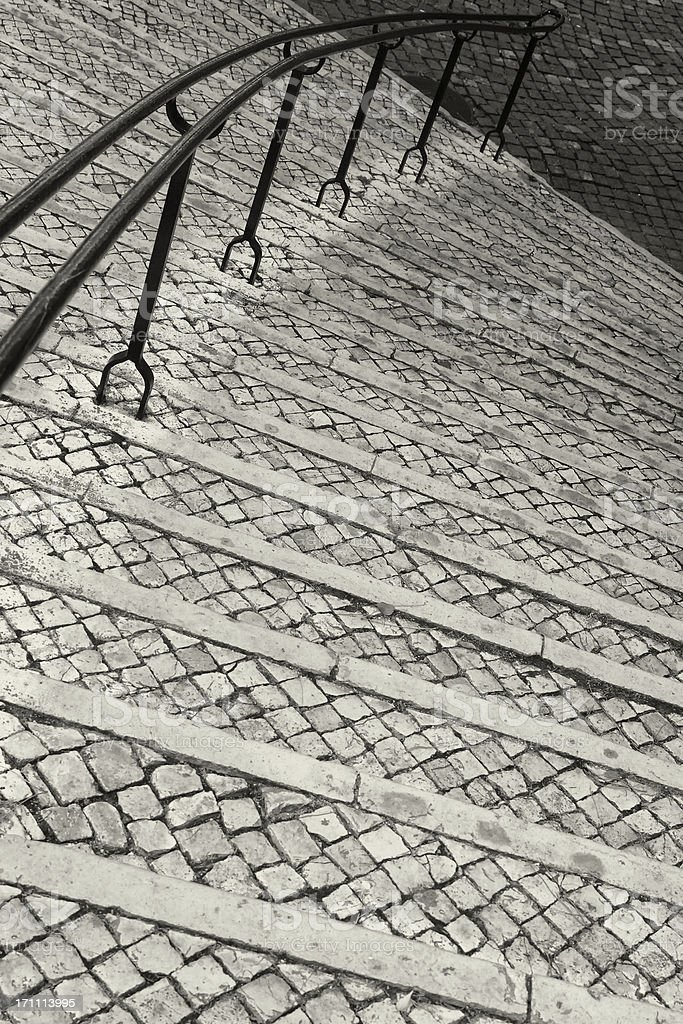 Street Stairs and Handrail royalty-free stock photo